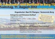 9. Panorama- und Dorflauf in Berg TG Samstag, 11 ... - Runfit Thurgau