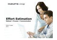Effort Estimation Method + Process + Communication - SPIQ