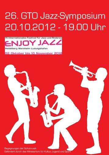 das aktuelle Programmhesft des 26. GTO Jazz-Symposiums