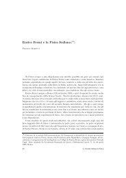 Enrico Fermi e la Fisica Italiana ( ∗ ) - Società Italiana di Fisica