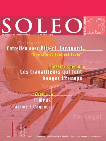Soleo 13 - Agence Europe-Education-Formation France