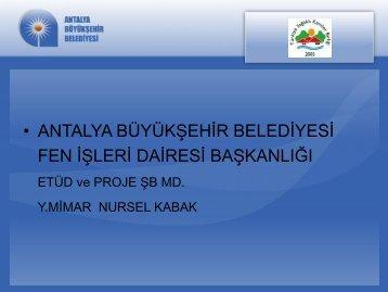 Antalya BŞB Yaya Öncelikli Caddeler
