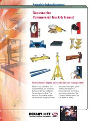Accessories Commercial Truck & Transit - Rotary Lift