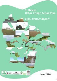 St Helens Urban Fringe Action Plan Final Project Report - Green ...