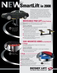 Moveable Pad lift - Rotary Lift