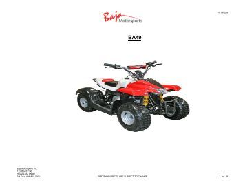 DR50 Hensim Dirt Runner 49cc Dirt Bike (VIN PREFIX LLCH or