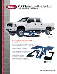 VLXS Series Low-Rise Pad Lifts - Rotary Lift
