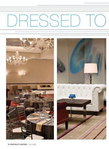 """""""Dressed to the Nines"""", Hospitality Lighting, Fall 2009 - Affiliated ..."""