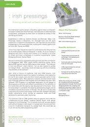 : irish pressings - Vero Software