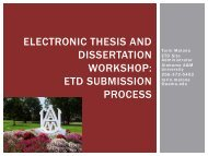 Electronic Thesis and Dissertation Workshop - Alabama A&M ...