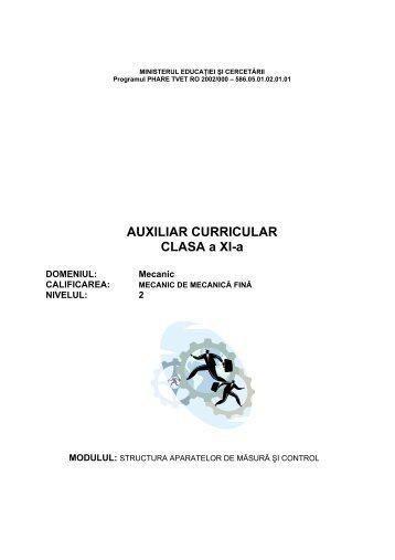 MECANICA-XI-STRUCTURA APARATELOR DE MASURA ... - cndipt