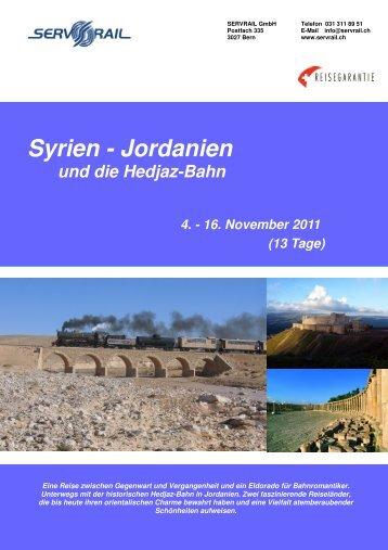 Syrien - Jordanien - SERVRail