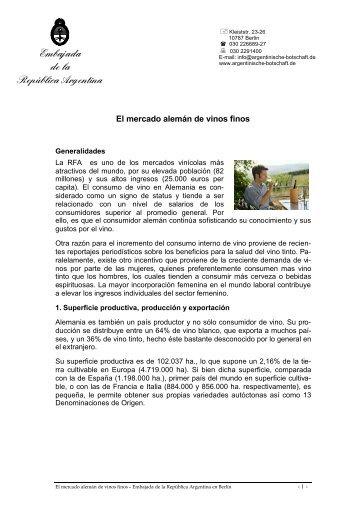 Embajada de la República Argentina - Wines Of Argentina