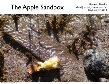The Apple Sandbox