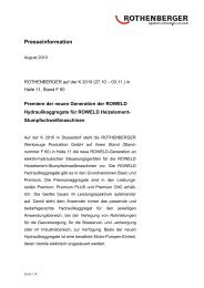 Presseinformation - Rothenberger