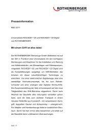 Presseinformation - Rothenberger