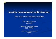 Planning and management of aquifer systems using the ... - APRH