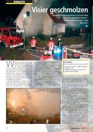 EINSATZ Visier geschmolzen - Freiwillige Feuerwehr Ebstorf