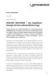 ROSCOPE MULTIVIEW – das Inspektions- Konzept ... - Rothenberger