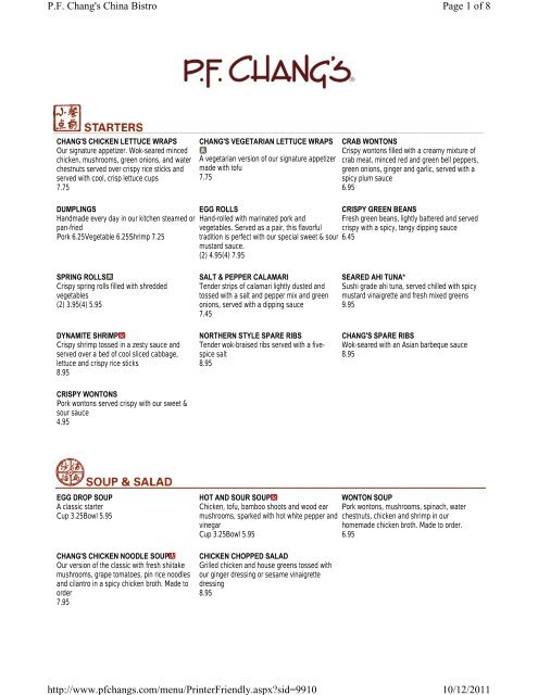 image regarding Pf Changs Printable Menu referred to as P.f. Changs Menu - Woodlands On-line