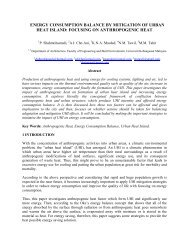 energy consumption balance by mitigation of urban heat island - RISM
