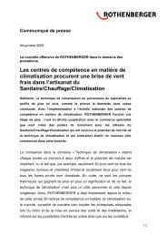 Les centres de compétence en matière de ... - Rothenberger