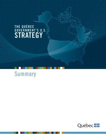 Québec Government's US Strategy - Ministère des Relations ...