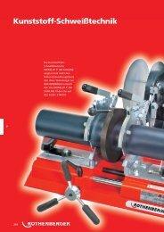 Kunststoffrohr-Schweißmaschinen - Rothenberger