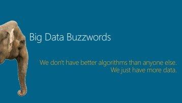 Big Data Buzzwords - BI User Group