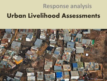 Urban livelihood assessments - Disaster risk reduction