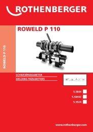 ROWELD P 110 Schweißparameter - Rothenberger