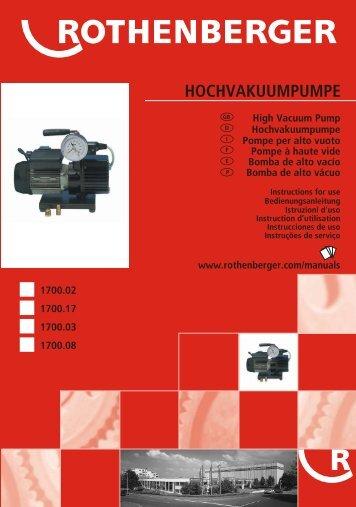 HOCHVAKUUMPUMPE - Rothenberger