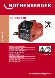 RP PRO III - Rothenberger