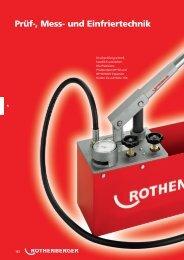 und Wasserleitungen - Rothenberger