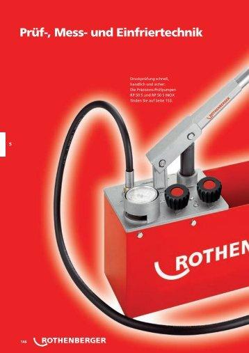 Prüfgeräte für Wasserleitungen - Rothenberger