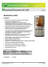 Marketing-Information Nr. 386 Mobiltelefon G502 - Mobileplus