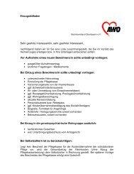 Einzugsleitfaden - AWO Angebote für Senioren in Oberbayern