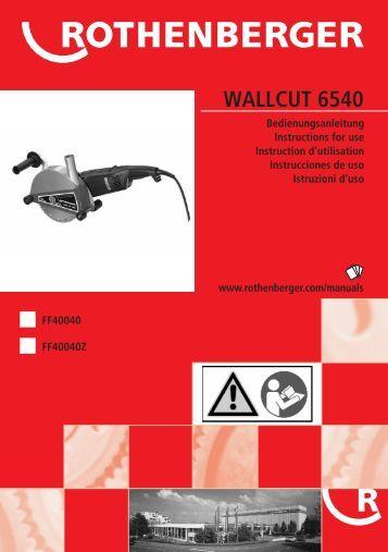 BA WALLCUT 6540 Umschlag PaketA-0607 - Rothenberger