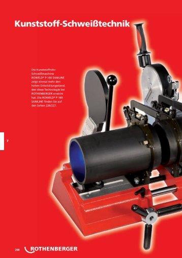 Kunststoffrohr-Abstech- und Anfasgeräte - Rothenberger