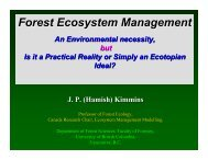 Forest Ecosystem Management - Faculty of Forestry - University of ...