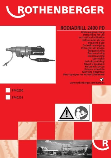 rodiadrill 2400 pd - Rothenberger