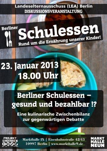 Flyer und Infos zur Veranstaltung - Landeselternausschuss Schule ...