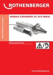 BA ROMAX EXPANDER AC ECO MAXI Umschlag ... - Rothenberger