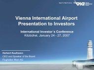 Presentation to Investors - Kitzbühel 2007 - Flughafen Wien