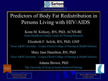 Predictors of Body Fat Redistribution in Persons Living with ... - IUPUI