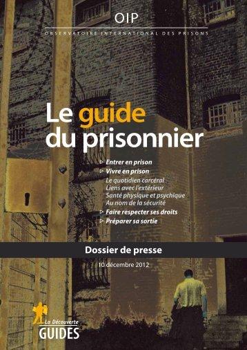 Guide du prisonnier - Ligue des droits de l'Homme