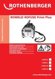 ROWELD ROFUSE Print Plus - Rothenberger