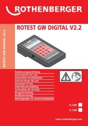 rotest gw digital v2.2 - Rothenberger