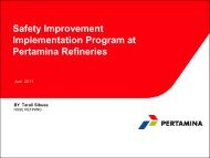 Safety Improvement Implementation Program at Pertamina Refineries