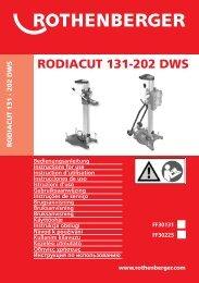 BA RODIACUT 131-202 DWS Umschlag PaketC-0908 - Rothenberger